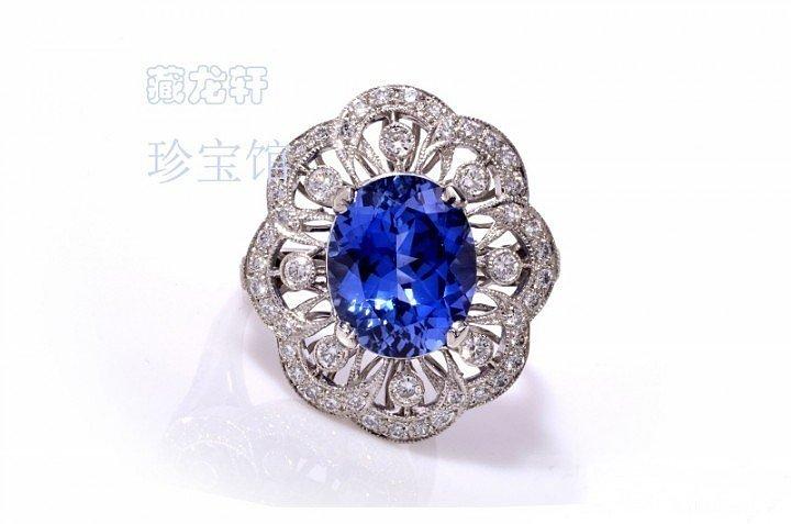 【特惠】豪华镶嵌4.85ct克拉蓝宝..._宝石