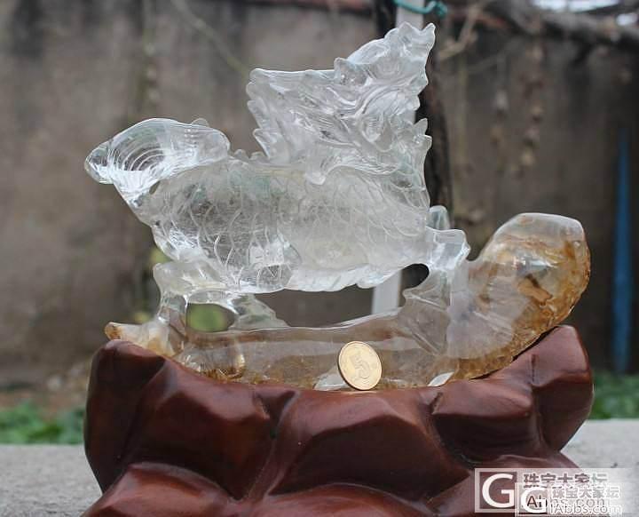 大家看这个水晶胶花麒麟能值什么价_幽灵晶