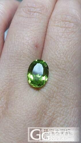 橄榄一枚_橄榄石刻面宝石