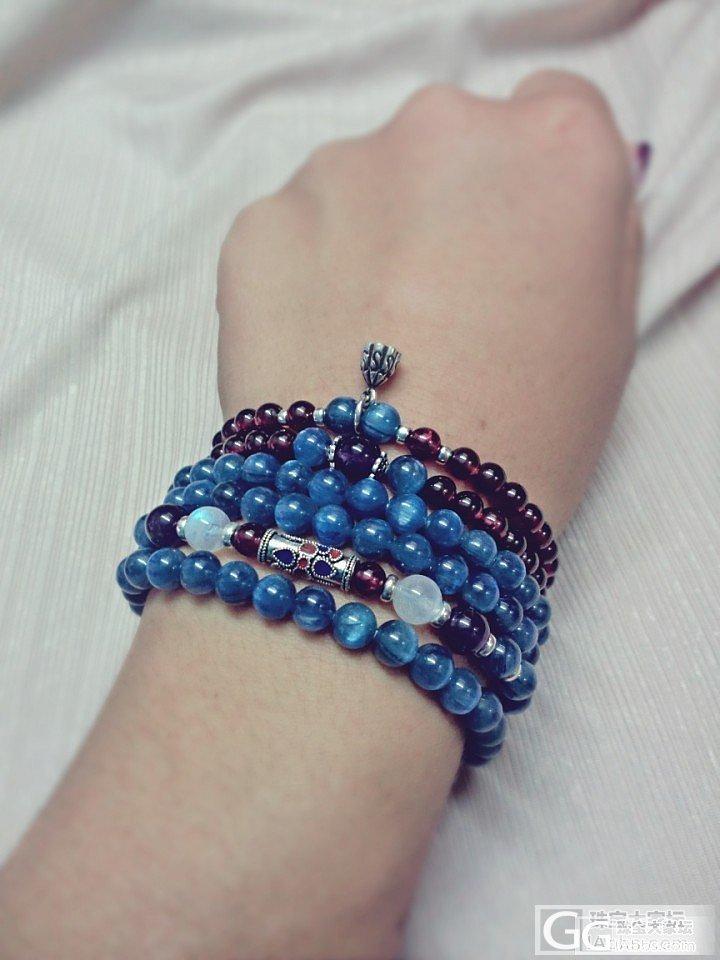 DIY 108颗 蓝晶石 手串~_少见宝石