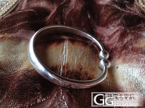 我的处女作———一体光面圆珠,三天磨一镯啊啊……欢迎拍砖or给分!_手镯银