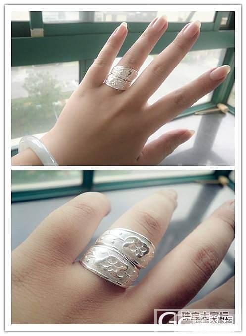 美哭了!!宝源家的双尖戒指~~_戒指银