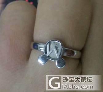 搜出迪斯尼的耳钉和戒指转88包邮_银