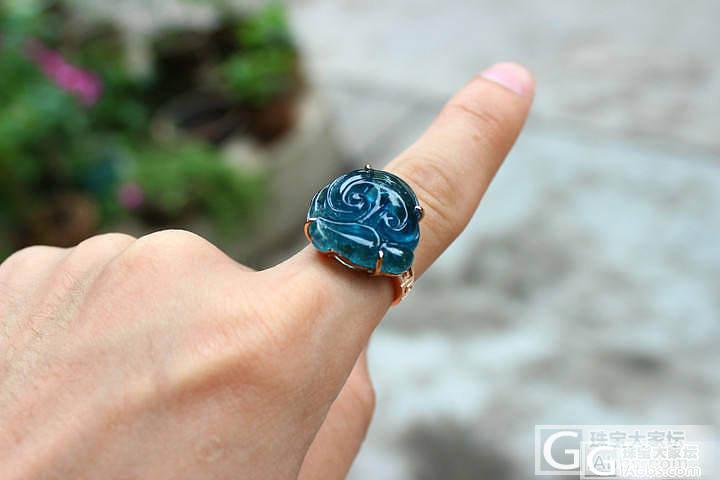 尊凰珠宝:晒颗湖水蓝碧玺戒指,刚做出..._宝石