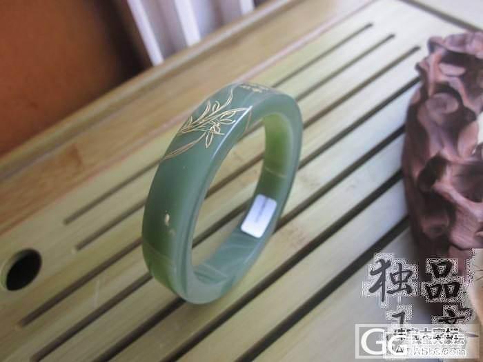 【碧玉方镯】7号矿老料,光泽度,脂粉..._传统玉石