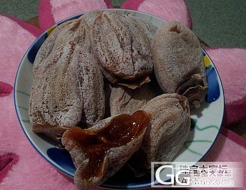 吃货滴幸福包裹----吊霜柿饼_美食
