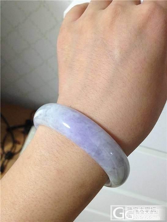 看看这个紫手镯,小小四能入不,无裂_翡翠