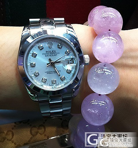 特别喜欢这条紫锂辉石!好粉嫩。,,_宝石