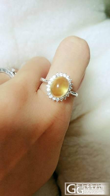 出DIY新做蜜蜡戒指,价不高就等有缘人!帅哥美女进来看_珠宝