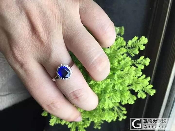 晒今天佩戴的首饰_戒指蓝宝石