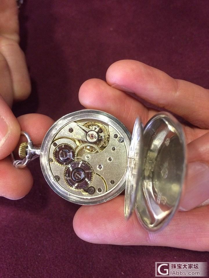 在德国古董店看到1900 年 瑞士制..._古董钟表欧米茄
