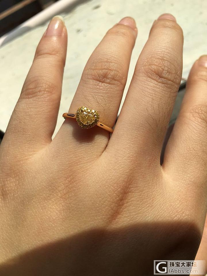 新买的戒指到咯,来秀一下_戒指