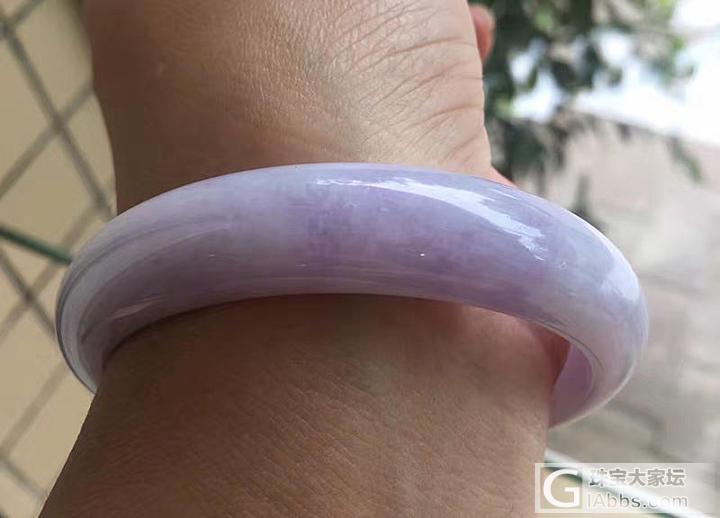 【紫颜】天然老坑紫罗兰翡翠圆镯 细腻..._小凤眼菩提