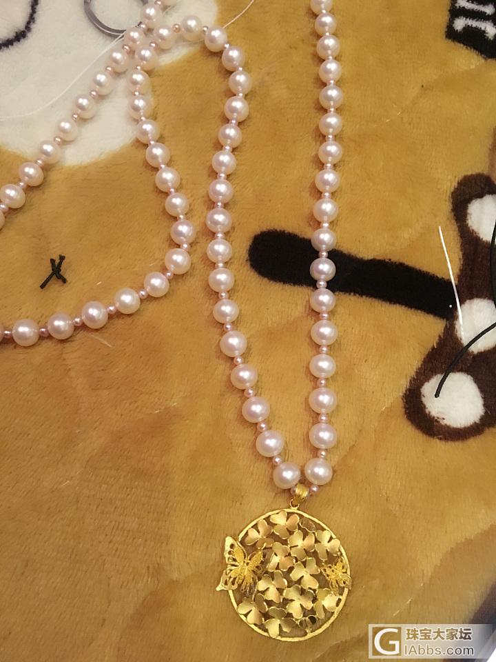折腾着 还是搭珍珠好看些_金串珠