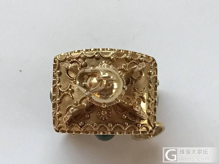 古董展上收获的几个小可爱,18K金,镶嵌的都是真宝石_胸饰琳琅满目古董首饰