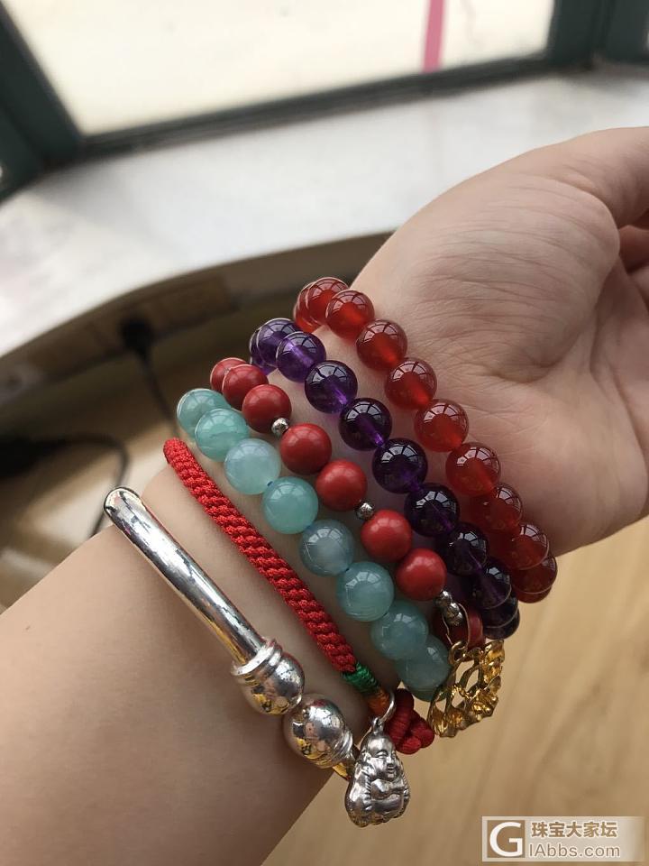 水一贴 看我的彩色手腕_手饰朱砂玛瑙紫水晶天河石银