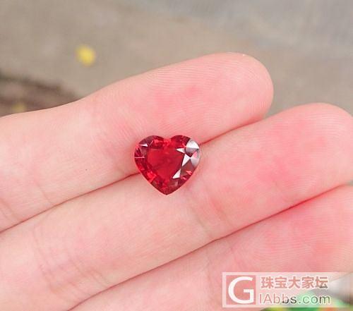 闪闪的红心_刻面宝石尖晶石原石