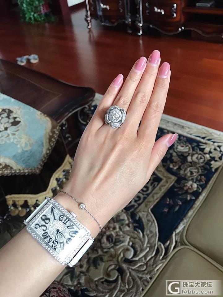 手表终于选好,配上钻戒得瑟一下_戒指钻石法穆兰
