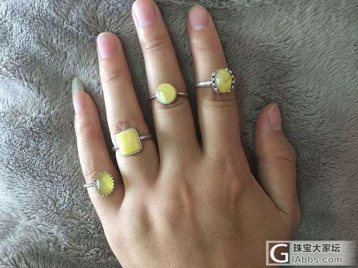 出蜜蜡的闲置,戒指、吊坠、手链一应俱全_琥珀蜜蜡
