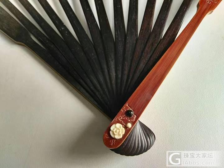 老竹子雕刻工艺扇骨_扇
