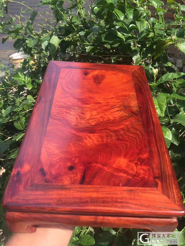 【小案桌】精品大红酸枝小案桌,整料独板,工艺精细_摆件红酸枝木类
