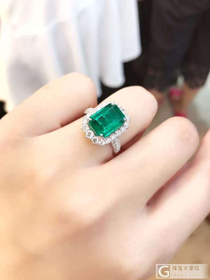 请大家帮忙看看这戒指怎么样?_戒指祖母绿