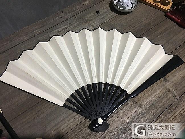 1尺乌木折扇,色调沉稳、造型典雅!_扇