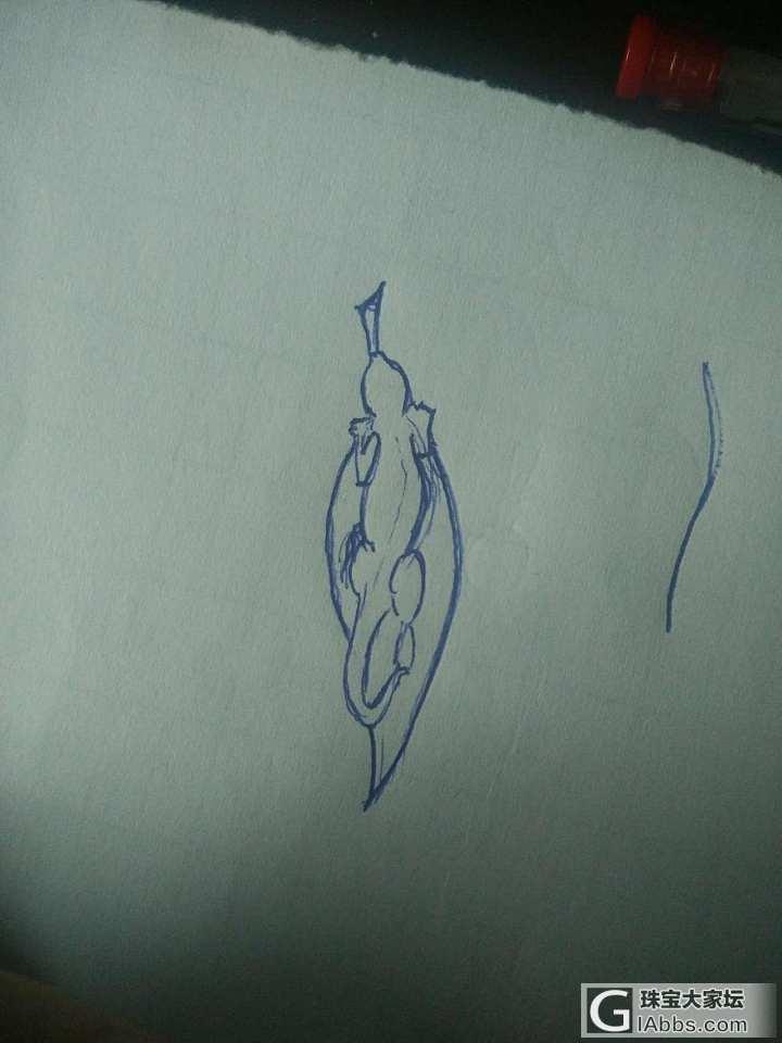忍不住发一个自己设计的创意小胸针:)_胸饰设计翡翠