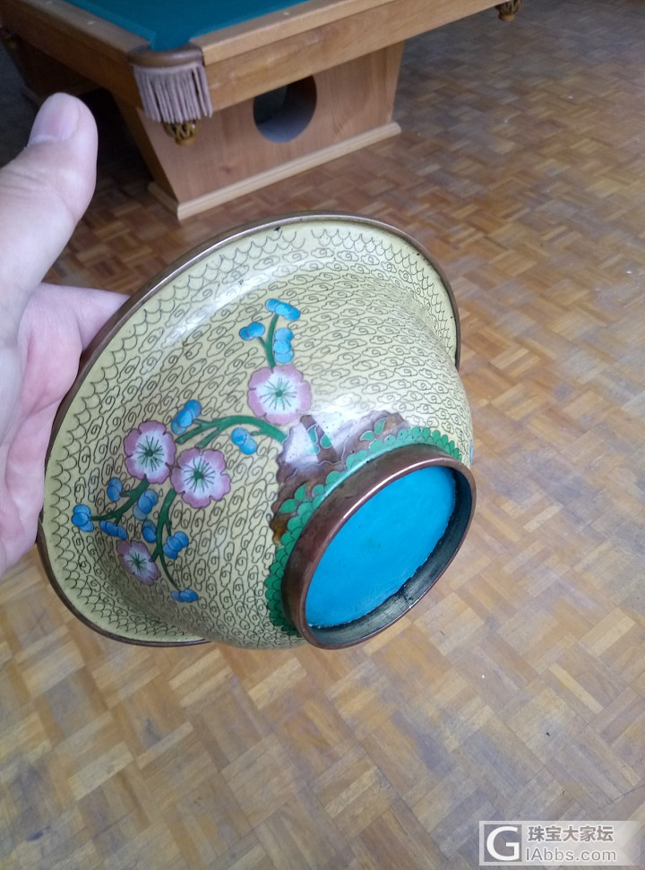 一个大碗_瓷器景泰蓝