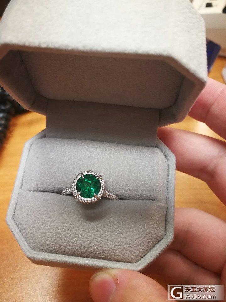 感恩节送我妈的礼物_戒指祖母绿