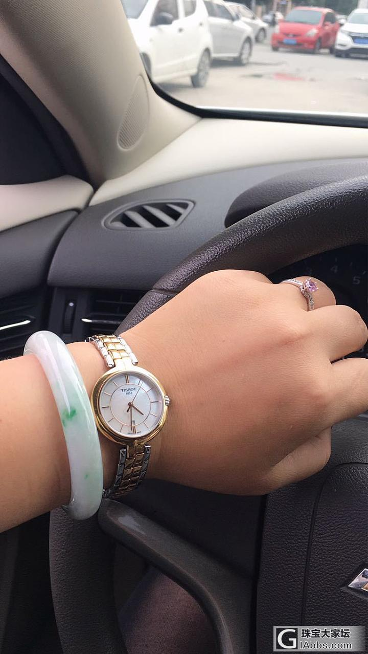 镯子能跟手表叠戴么?_搭配手表翡翠