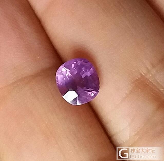 紫粉蓝宝_刻面宝石蓝宝石