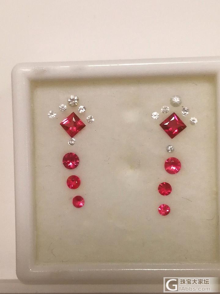 当主石色彩丰满,配石是否不选钻石也能相得益彰?_耳饰