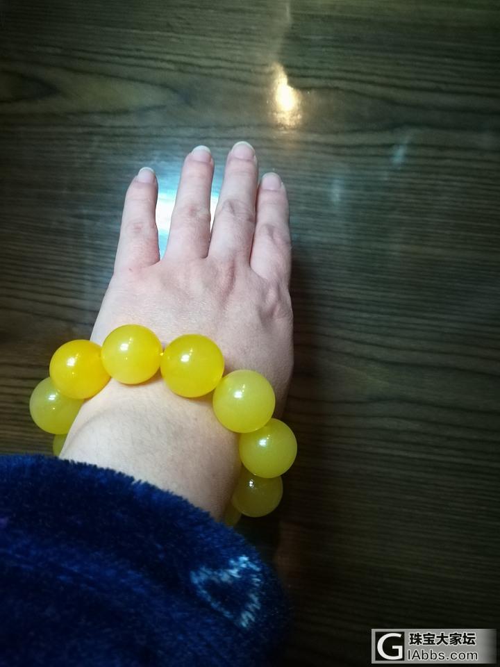 超大珠子,好像从来没有戴过这么大的😂会不会有点怪_珠串蜜蜡