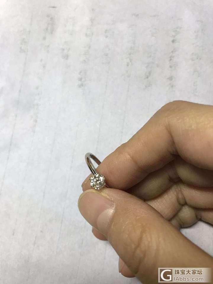 麻烦大家鉴定一下钻戒有无问题。_戒指钻石