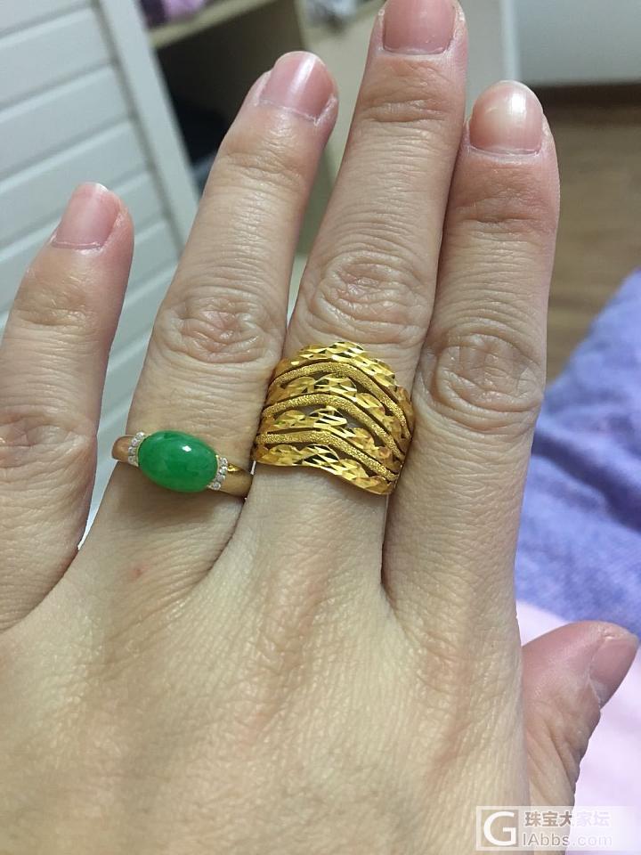 翡翠戒指和金戒指,如果选一个,你会选..._戒指翡翠金