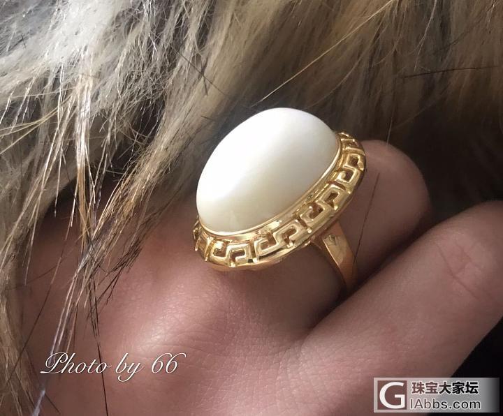 终于圆了大白蛋戒指的梦想~_戒指蜜蜡