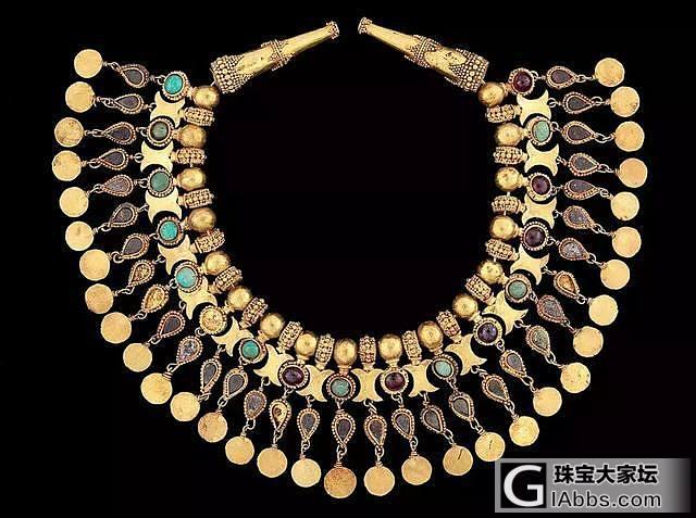 阿富汗宝藏,四千年前的珠宝首饰_古董首饰金