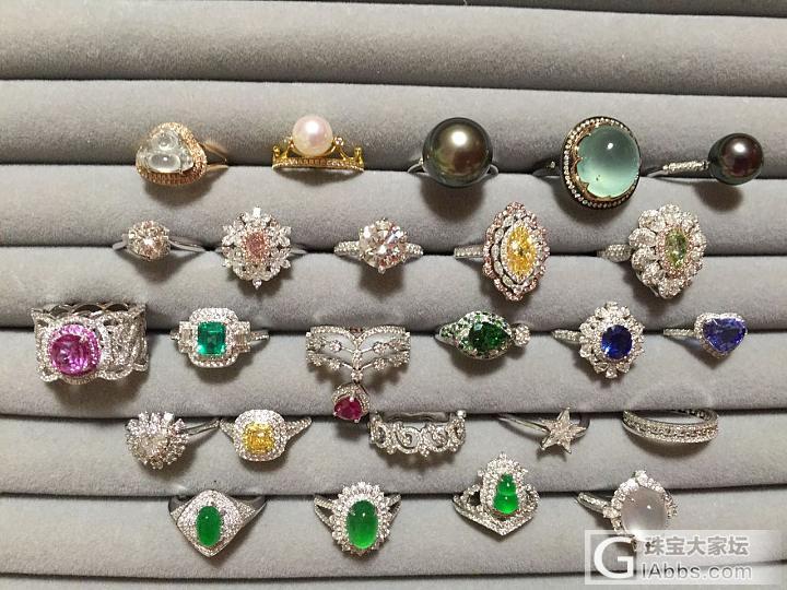 戒指开会—顺便晒刚收到的珍镯_翡翠钻石打金戒指手镯金