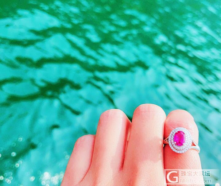 无烧粉色蓝宝石+沙弗莱+钻石耳钉_名贵宝石