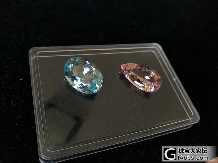 继续晒石头,海蓝以前没发过,拉来摩根和金绿柱石一起合个影_金绿宝石摩根石刻面宝石海蓝宝