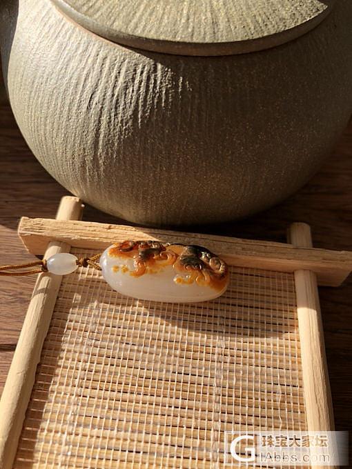 沁红皮籽料 螭龙_和田玉
