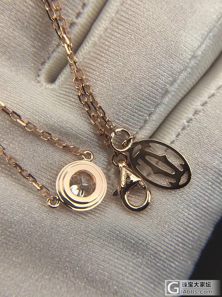 小白求个18k的钻石项链(锁骨链),20-30分都可以。_项链钻石