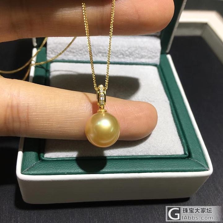 菲律宾金珠吊坠_海水珍珠