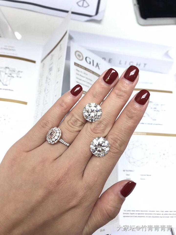 # 两颗 十克拉的 钻石 ?? 蛋蛋 #_淘宝坛内商户千寻珠宝认证商钻石