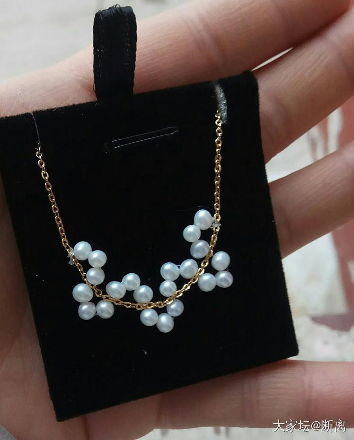 淡水珍珠手工小珠项链_有机宝石