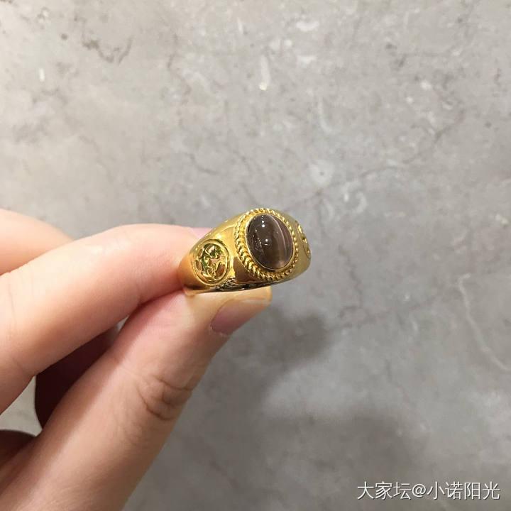 24K纯金矽线石男戒定制出炉  提供免费刻字服务_矽线石