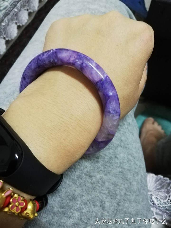 这算不算很仙的灯下图_手镯紫龙晶