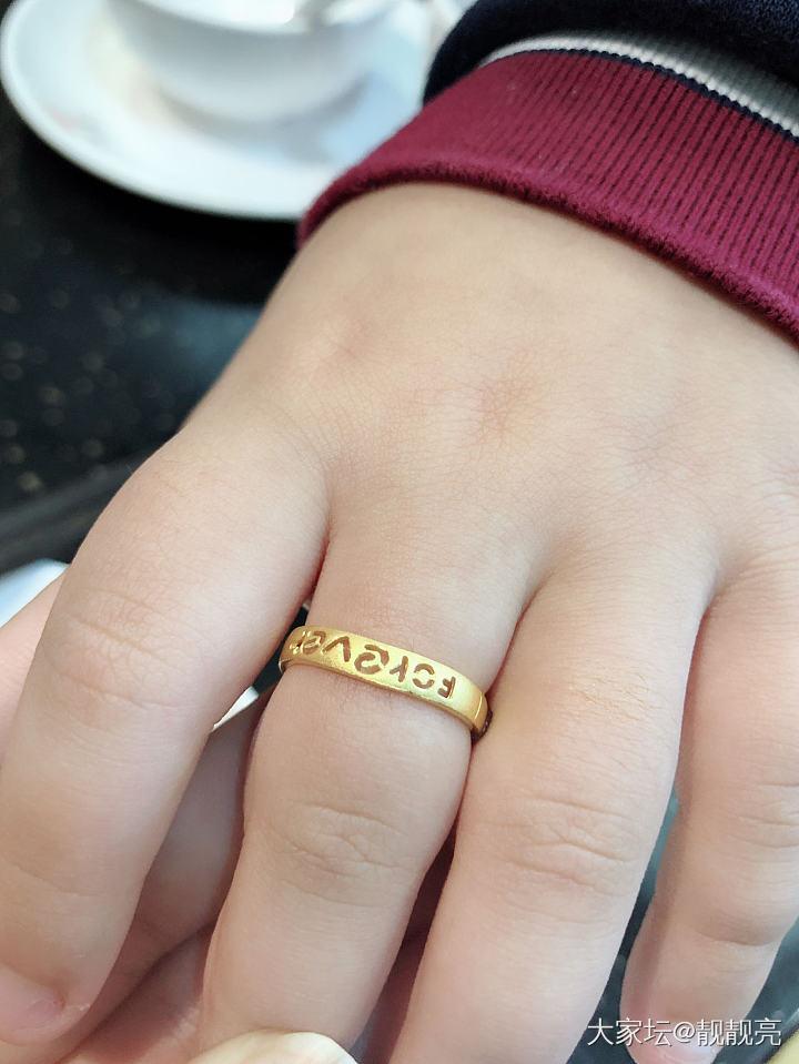 给娃买个小戒指_戒指金