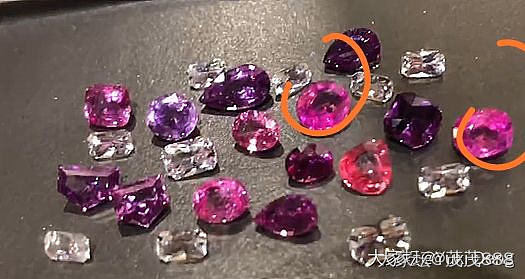 我收的热粉...要年后才能到货了..._刻面宝石蓝宝石名贵宝石